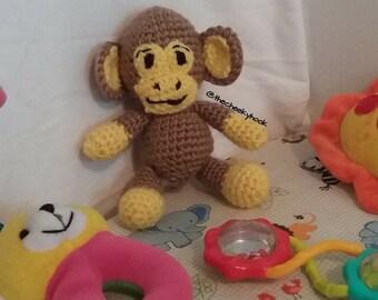 Plush Stuffed Monkey. Cheeky Monkey Amigurumi. Amigurumi Crochet Monkey. Monkey Amigurumi. Amigurumi Monkey. Plush Monkey. Crochet Monkey.