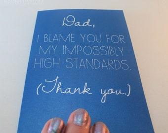 Dad Card - Father's Day Card - Dad Birthday Card - Funny Card - Card for Father - Father's Day - Dad Thank You