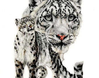 WHITE LEOPARD, MAGNET, Leopard Decor, African White Leopard, Wild Cat, Wildlife, Big Cat, Big Cat Decor, Leopard Print, African Cats, Cats