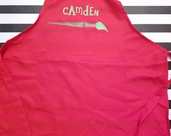 Childrens Personalized Art Smock Apron
