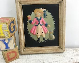 3D Vintage Nursery Rhyme Framed Art