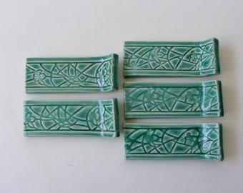 Ceramic knife rest, Set of Five, Hand Made