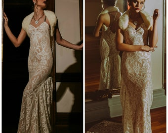 Wedding dress, Boho wedding dress, bohemian wedding dress, lace wedding dress, casual wedding dress, beach wedding dress, sweetheart wedding