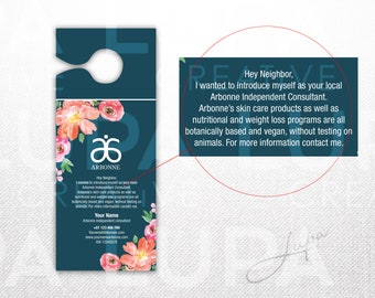 Arbonne Small Door Hanger (01) - digital file supplied only