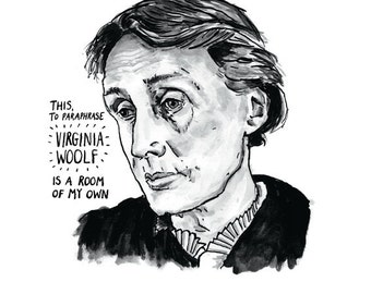 Virginia Woolf poster print Great Writers