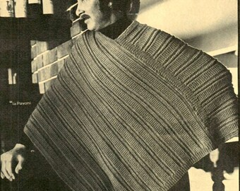 Vintage hand Knitting Patterns for Men 1970s