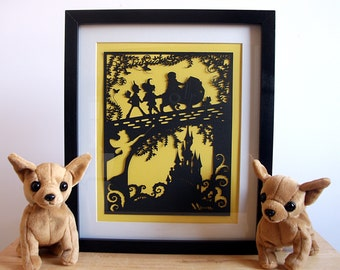 The Wizard of Oz Paper Cut, Wizard of Oz Wall Art, Wizard of Oz Wall Decal, Wizard of Oz Poster