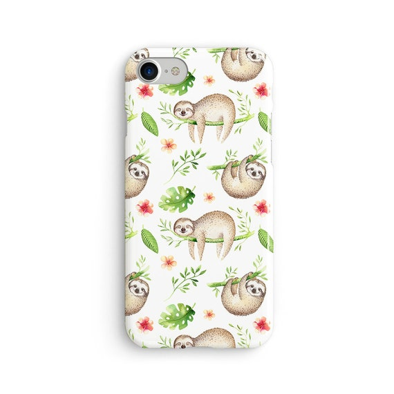 Sloths swinging everywhere iPhone X case - iPhone 8 case - Samsung Galaxy S8 case - iPhone 7 case - Tough case 1P073
