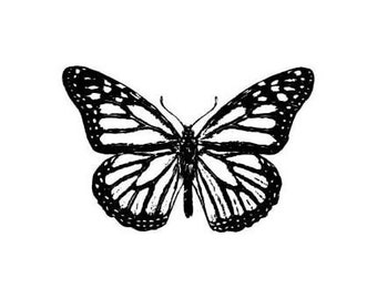 Monarch Butterfly UNMOUNTED rubber stamp, Sweet Grass Stamps No.9