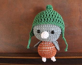 Little Gray Bird in a Pom-Pom Hat
