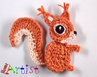 Crochet Applique squirrel