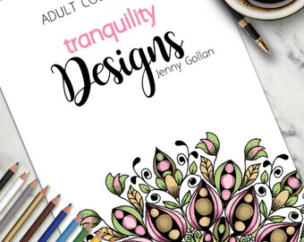 Printable Colouring Book Tranquility Designs