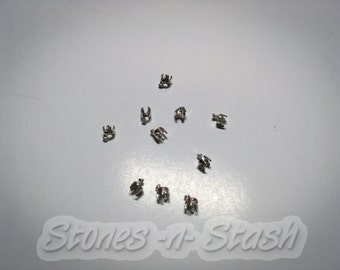 2mm Embeddable prong setting for silver metal clay