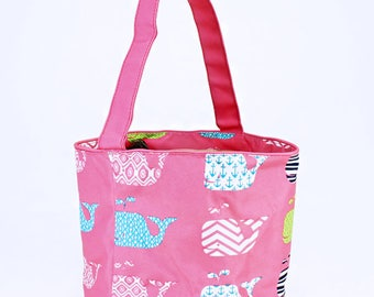 Pink Whale Easter Bucket   Monogram Easter Basket   Kids Easter Bag   Collapsible Candy Bucket   Monogram Trick or Treat   Easter Egg