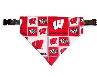 University of Wisconsin Badgers Dog Bandana