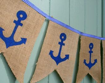 Anchor Nautical  Bunting Garland Decoration