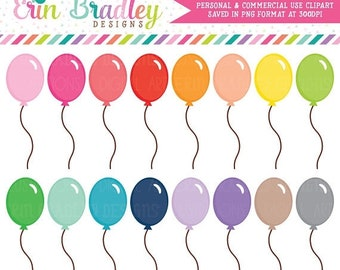 80% OFF SALE Balloon Clipart Birthday Party Clip Art Graphics Celebration Clipart Commercial Use OK