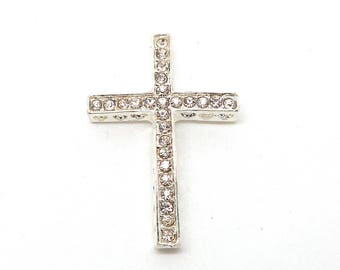 Silver with Rhinestone cross separator