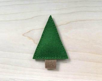 Pine Tree, 100% Wool Felt Cat Nip Teaser Toy