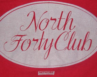 Vintage 90s North Forty Club Maroon T Shirt