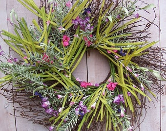 Grass Wreath-Wild Grass Wreath-Spring Wreath-Spring Front Door Wreath-Spring Wreath-Grass Wreath door Wreath-Summer  Wreath-Rustic Grass