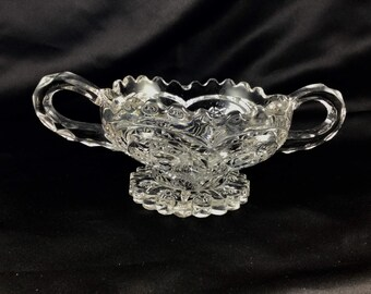 Crystal cut glass EPAG  mold style nappy.