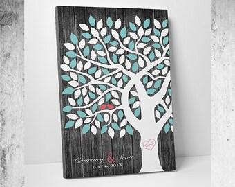 Wedding Guest Book Tree Personalized Wedding Print - Tree GuestBook - 55-300 Signatures Keepsake Guestbook Tree