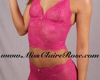 Penelope Pink Luxury Vegan Fashion Bralette and Panties