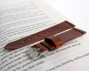 Brown leather watch strap Personalize leather watch band Vegetable tanned leather watch strap 18 mm 20 mm watch band 22 mm 24 mm watch strap