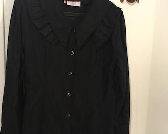 Vintage chic T42 (eu) L Black shirt
