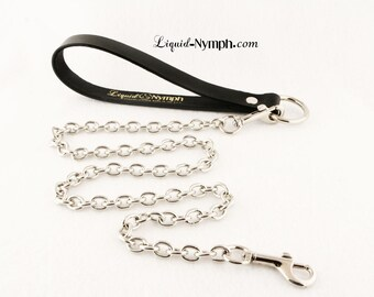 BDSM OVALS Designer Leash Chain for Bondage Collar Silver Fetish Lead Kitty Puppy Dog Kitten Pet Play Collar Leash Mistress Play DDLg Collar