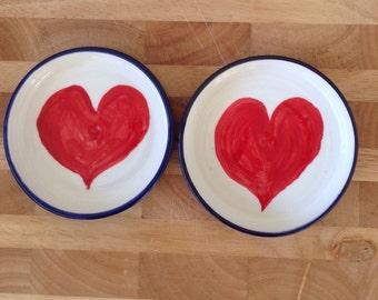 Heart bowls x 2