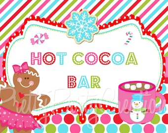 HOT COCOA BAR Sign -  You Print choose your size