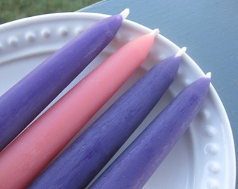 Beeswax Advent Wreath Candles - Set of 4 Tapers