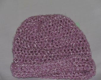 Medium purple newborn hat