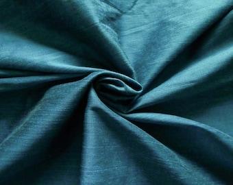 Silk Fabric, Dupioni Silk Fabric, Blend Silk Fabric, Art Silk Fabric, Teal Blue Dupioni Fabric