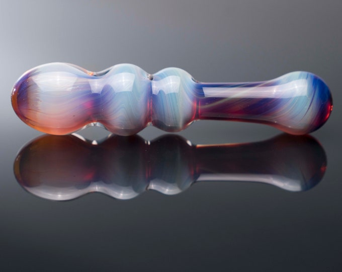 Glass Dildo - Rainbow Amber
