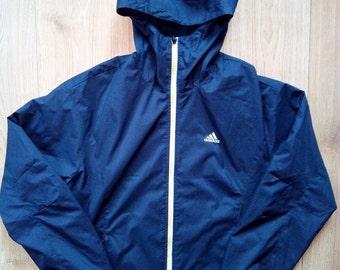 Adidas 90's Vintage Mens Tracksuit Top Jacket Windbreaker Hooded Parka