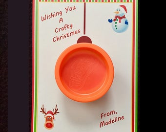 Have a Crafty Christmas Play-Doh Ornament Card Favors School Christmas Party