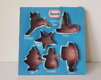 Vintage Alumode Cookie Cutters in Original Box