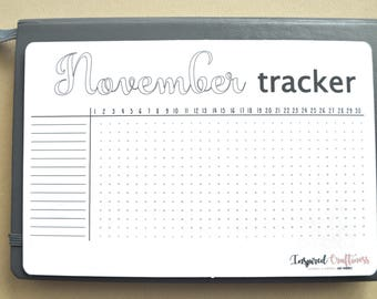 Bullet journal sticker, habit tracker, monthly tracker, planner sticker, monthly planning