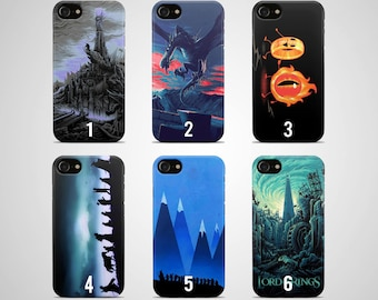 The lord of the rings phone case iphone case 8 plus 7 X 6 6s 5 5s se galaxy samsung galaxy case s8 s7 edge s6 s5 s9 note 4 gift ring hobbit