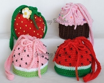 PDF Crochet Pattern - Yummy Purses