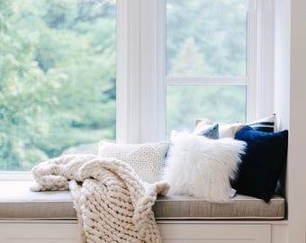 Chunky Knit Blanket, Merino Wool Blanket, Chunky Knit, Chunky Knit Throw