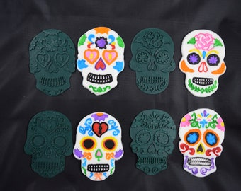 Deluxe Day of The Dead Sugar Skull Cookie Cutter Set
