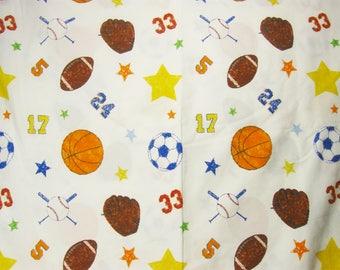 Vintage Twin Flat Sheet, Sports Sheet, Bedding
