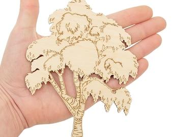 Wooden Tree (15cm) Birch Tree Shape Art Projects Craft Decoration Gift Decoupage Ornament MG000490