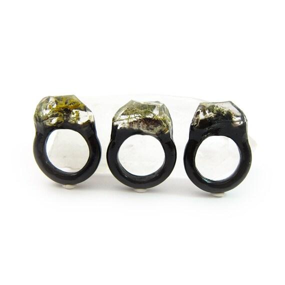 Moss Resin Ring • Nature Inspired Rings • Terrarium Ring • Terrarium Moss Jewelry • Botanical Ring •  • Size 7.5