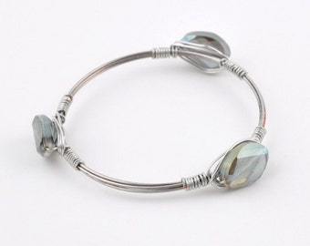 Bourbon and Boweties Inspired Bangle- Iridescent, Silver