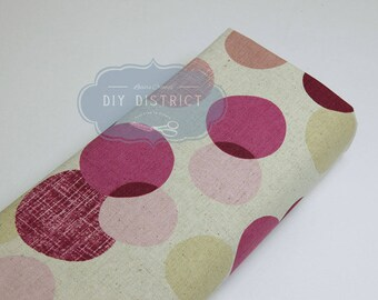 Canvas Japanese fabric modern round design.